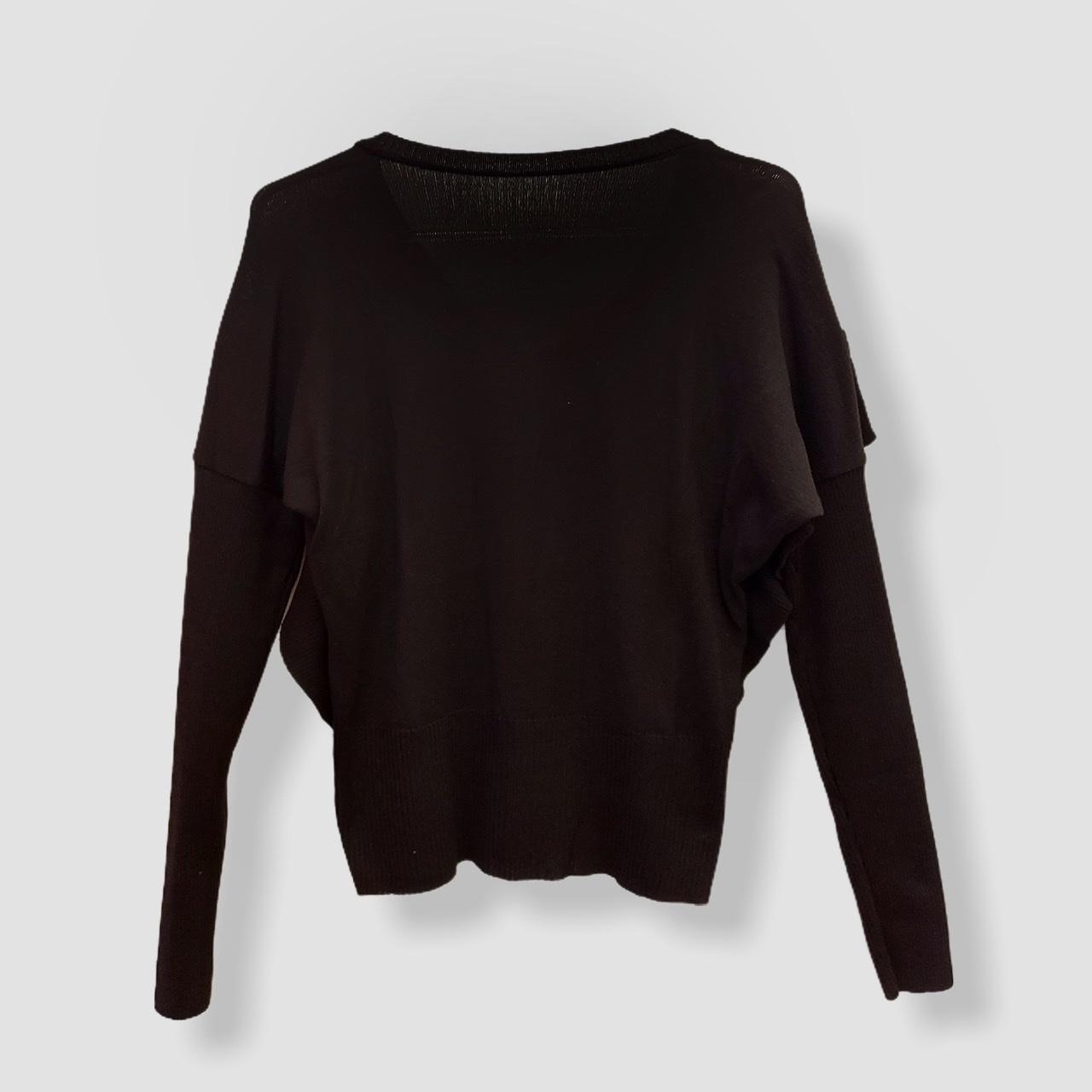 Blusa Etiene com babado preta