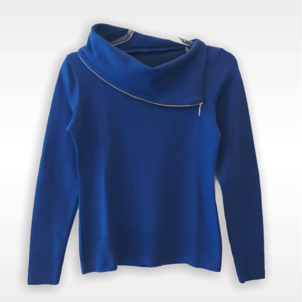 Blusa Fernanda royal tricot  - Vivian Bógus