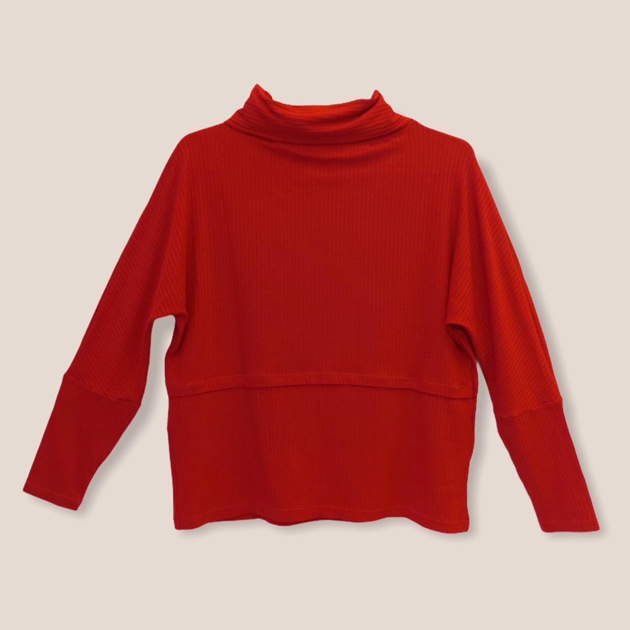 Blusa Ligia vermelha canelada  - Vivian Bógus