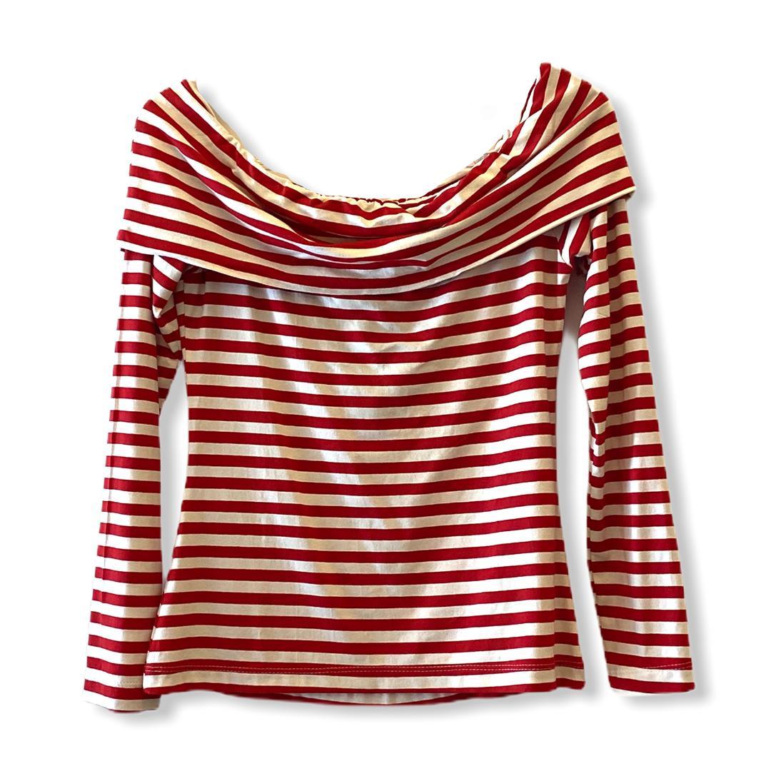 Blusa listrada vermelho e branco  - Vivian Bógus