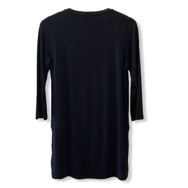 Blusa longa listras verticais