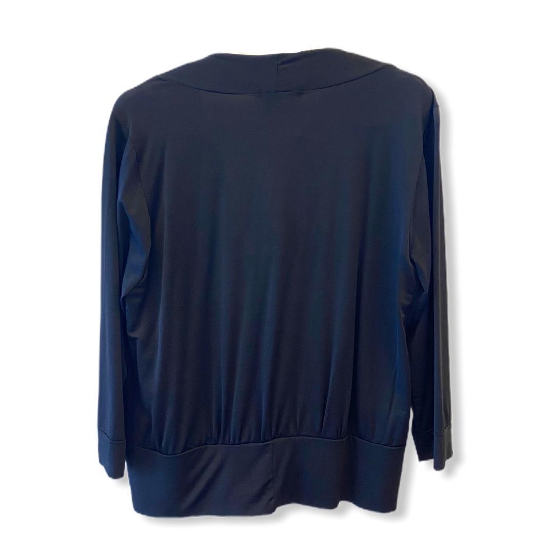 Blusa nó decote malha fria preta  - Vivian Bógus