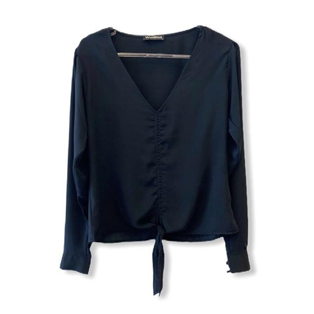Blusa nózinho preta  - Vivian Bógus