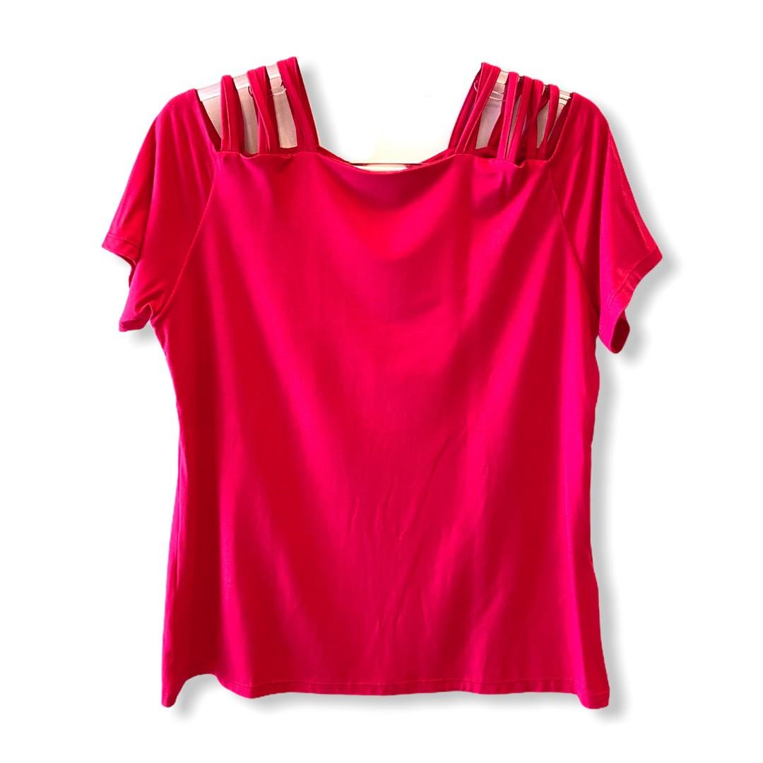 Blusa tirinhas ombro pink  - Vivian Bógus