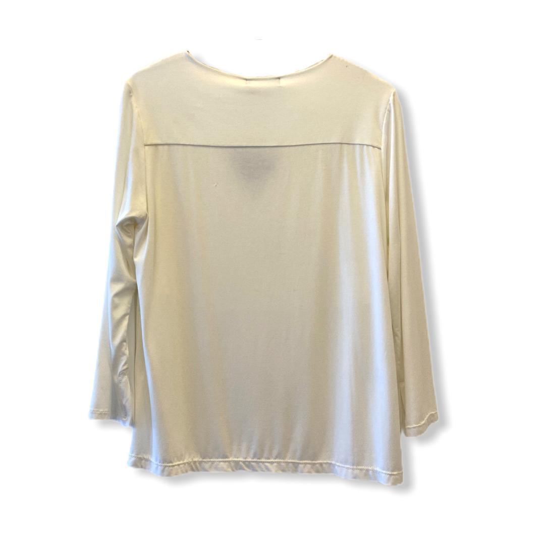Blusa triângulo decote off white  - Vivian Bógus