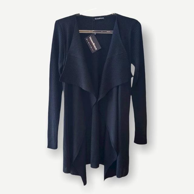 Casaco Marcela preto tricot  - Vivian Bógus