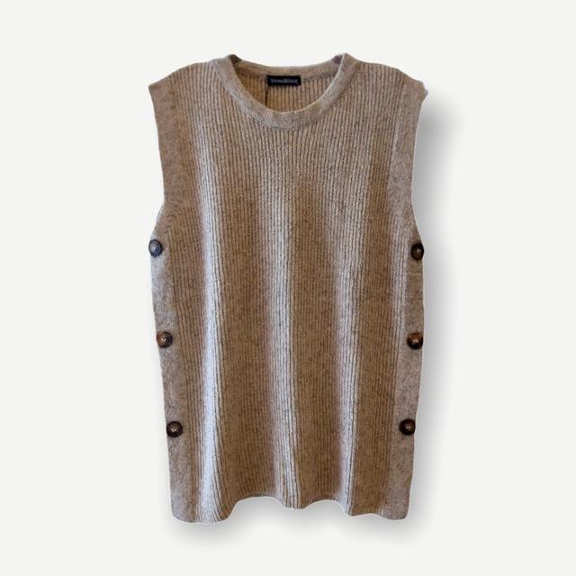 Colete Karina areia tricot  - Vivian Bógus