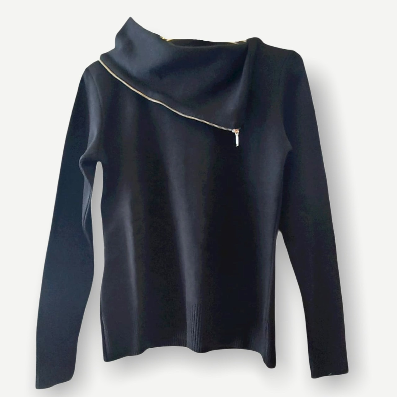 Blusa Fernanda preta tricot  - Vivian Bógus