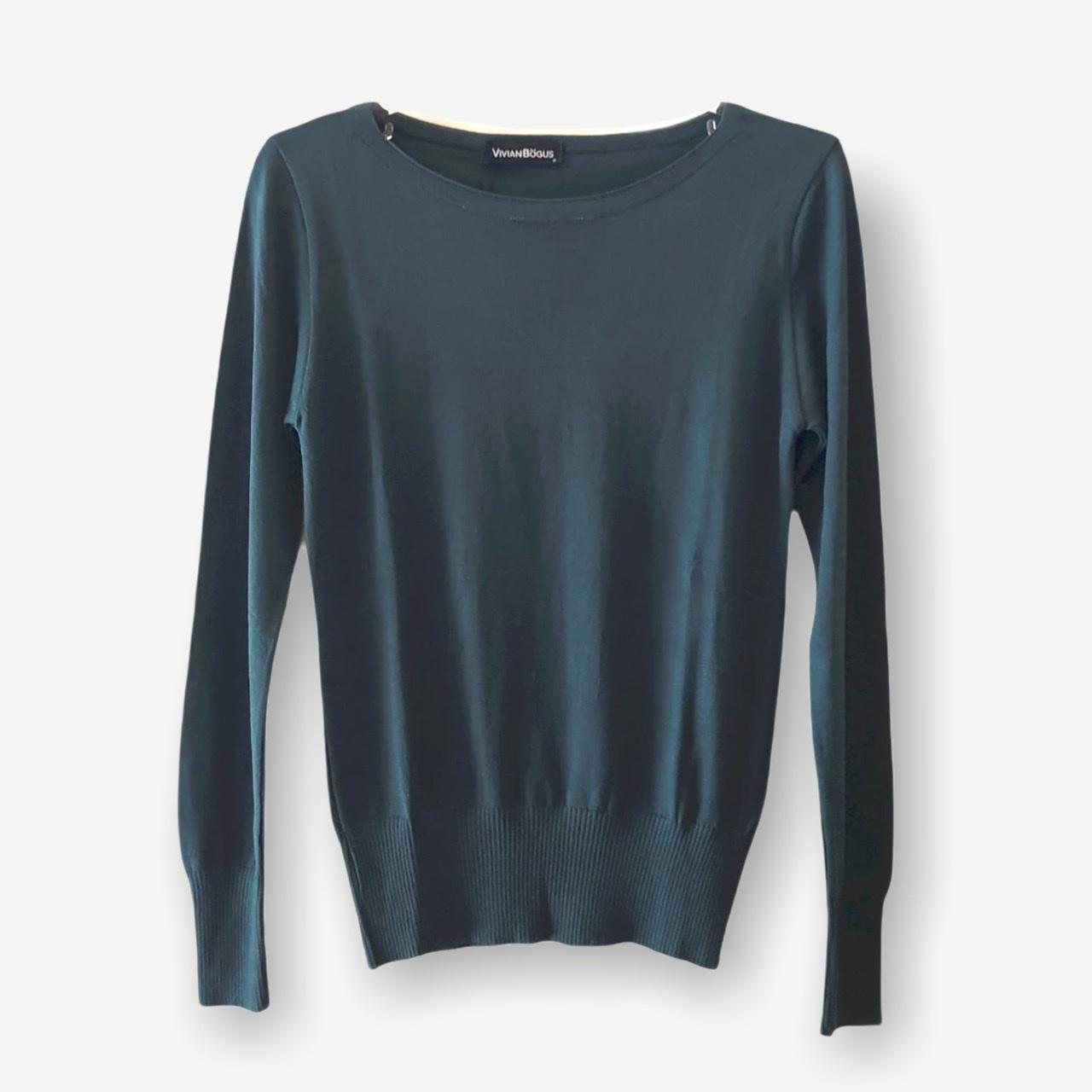 Blusa Luciana verde tricot  - Vivian Bógus