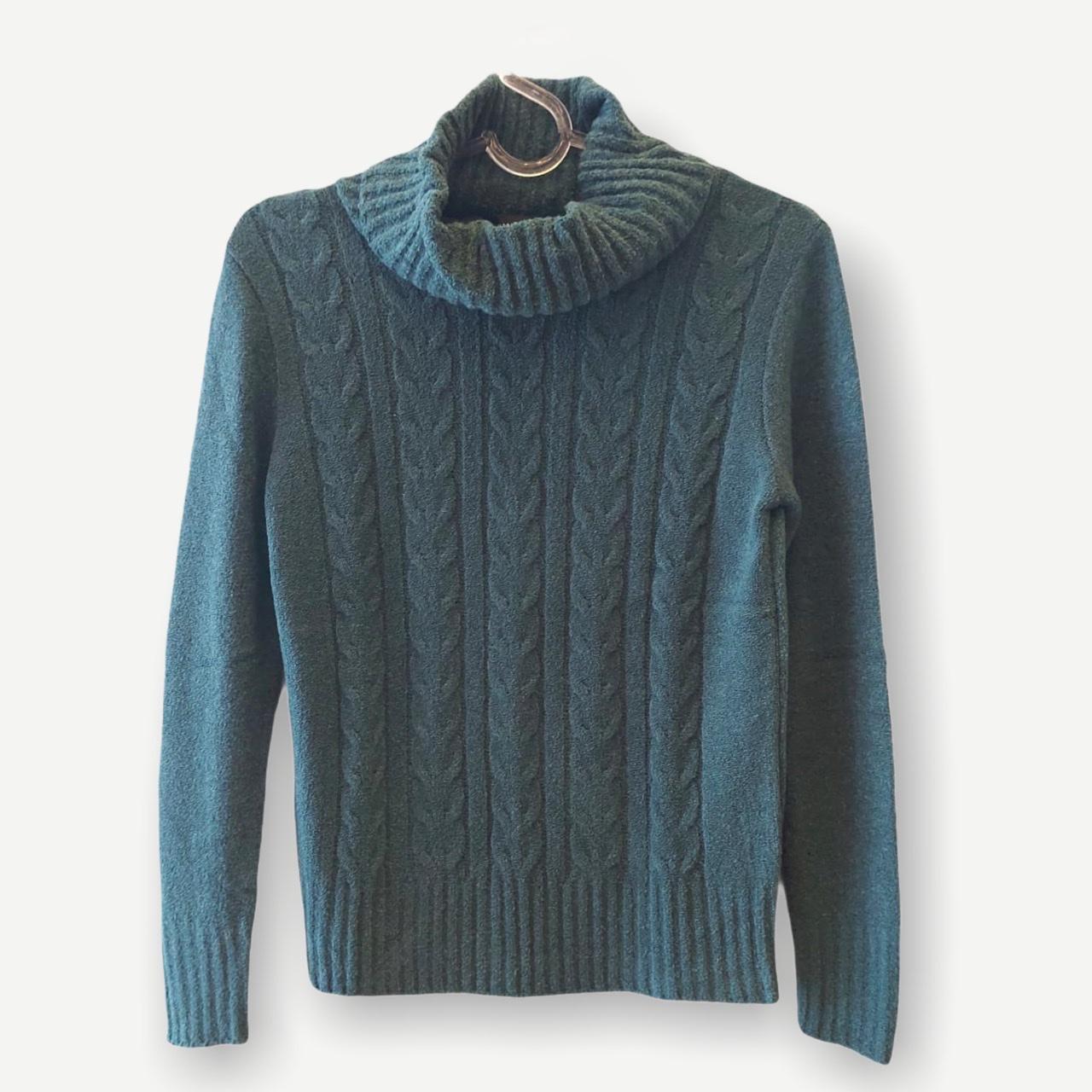 Blusa Rebeca verde tricot  - Vivian Bógus