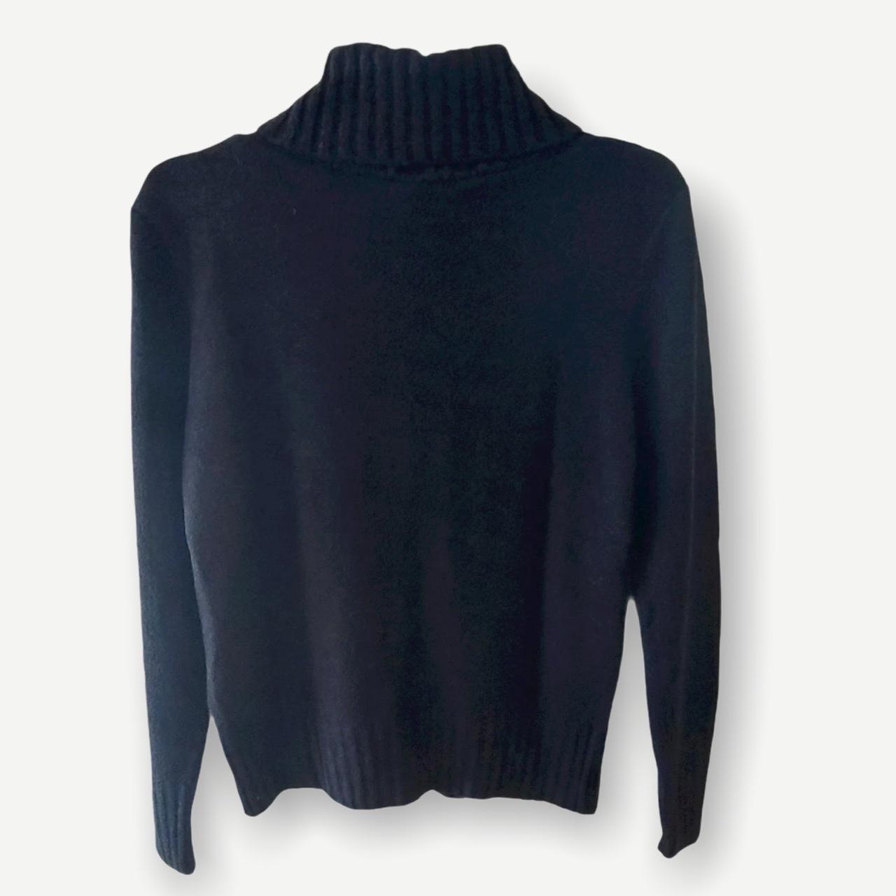 Blusa Rebeca preta tricot   - Vivian Bógus