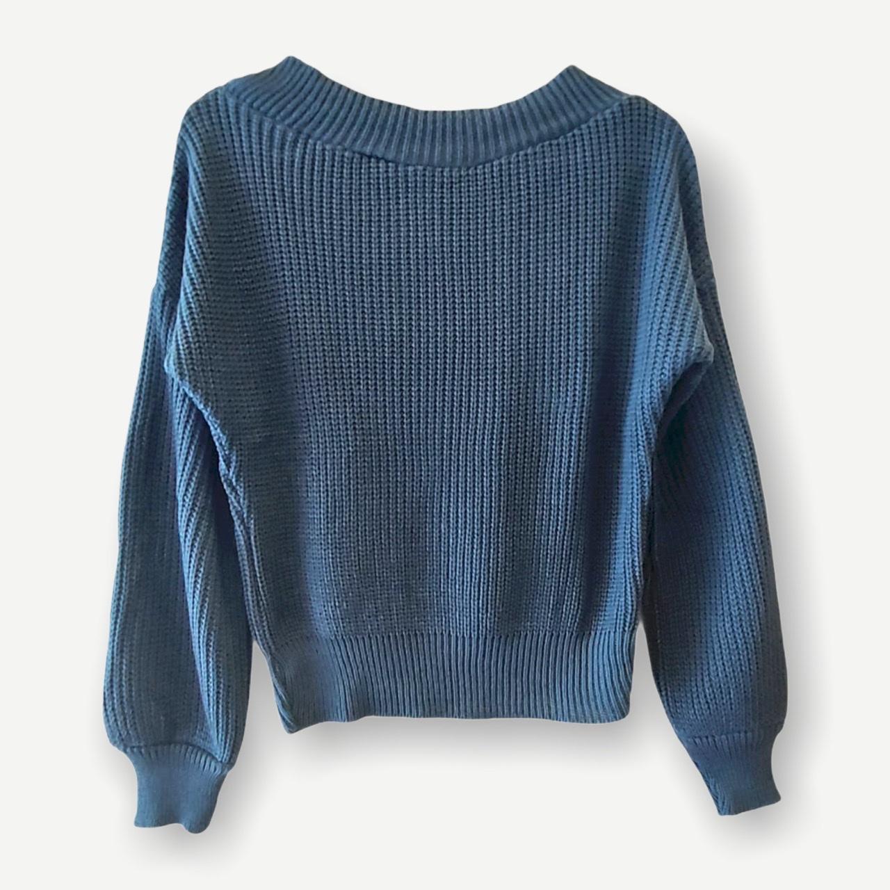 Blusa Juliana azul tricot  - Vivian Bógus