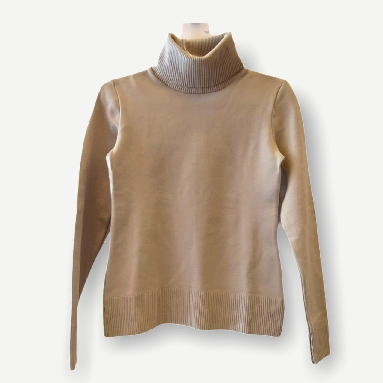 Blusa gola rolê areia tricot