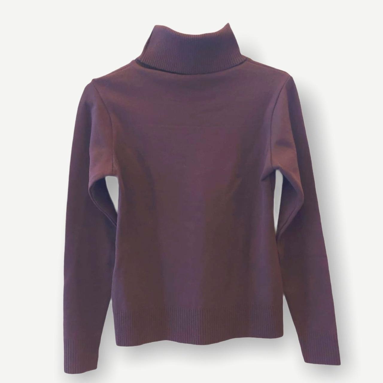 Blusa gola rolê marrom tricot  - Vivian Bógus