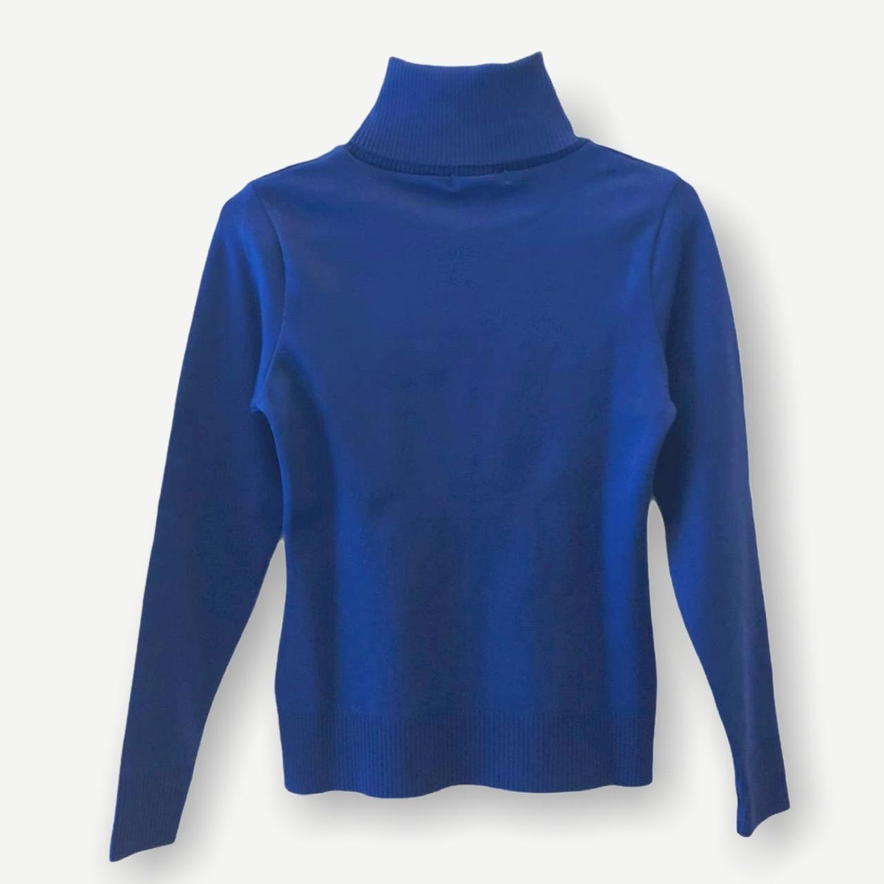 Blusa gola rolê azul royal tricot  - Vivian Bógus