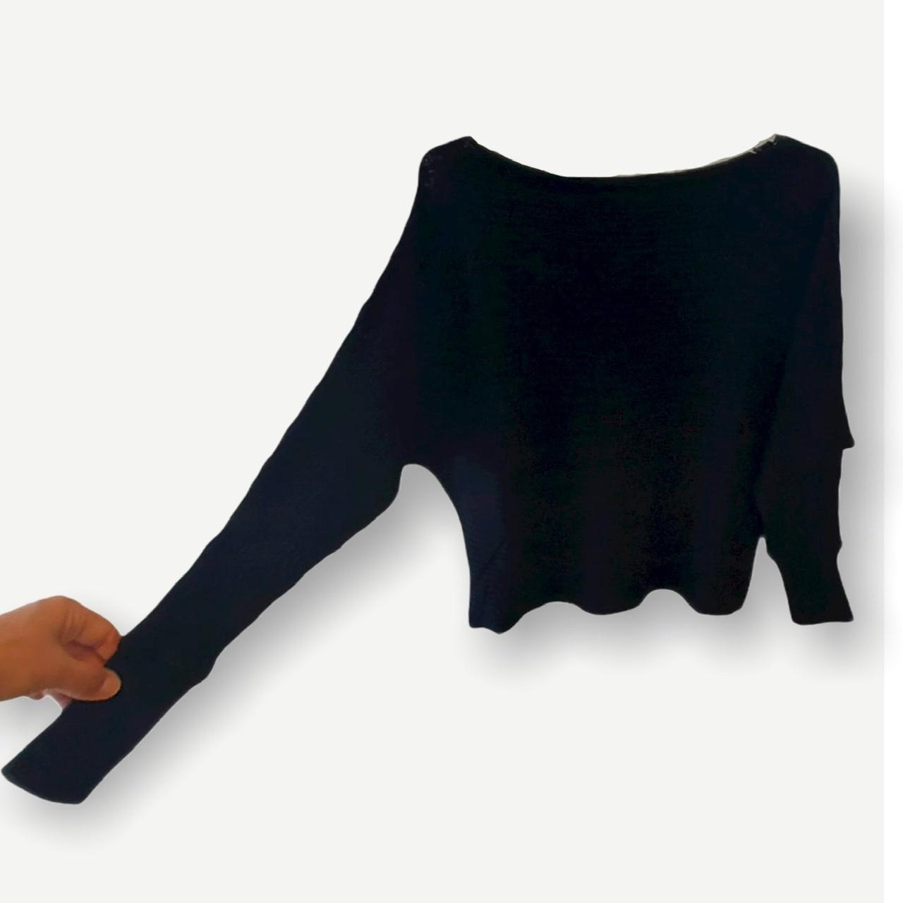 Blusa cropped canelada preta tricot  - Vivian Bógus