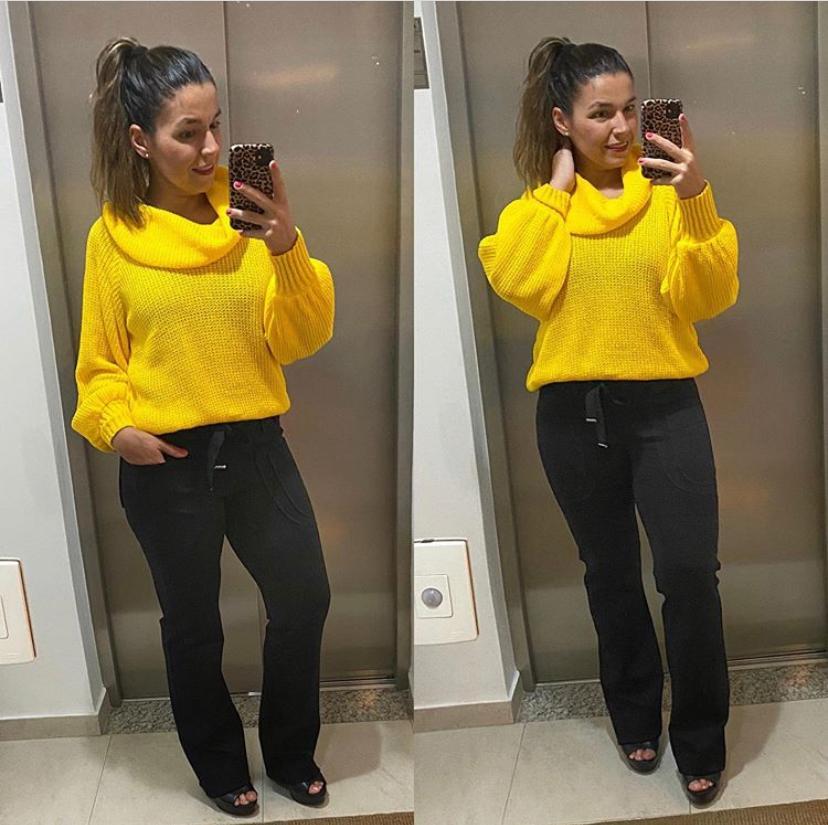 Malha tricô amarela  - Vivian Bógus