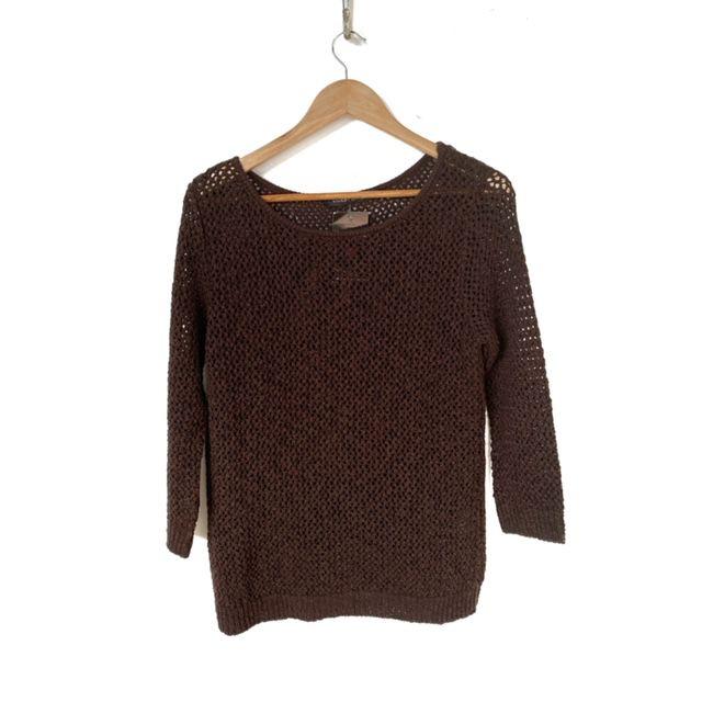 Blusa tricô marrom  - Vivian Bógus