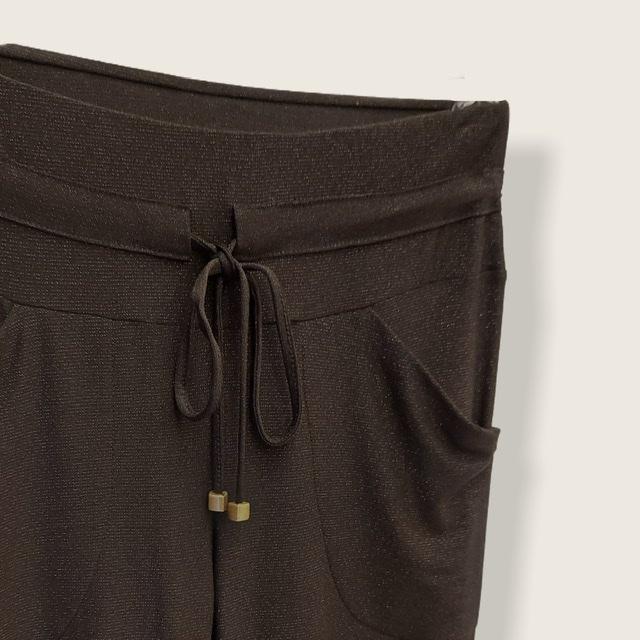 Calça Confort Jogger preta lurex  - Vivian Bógus
