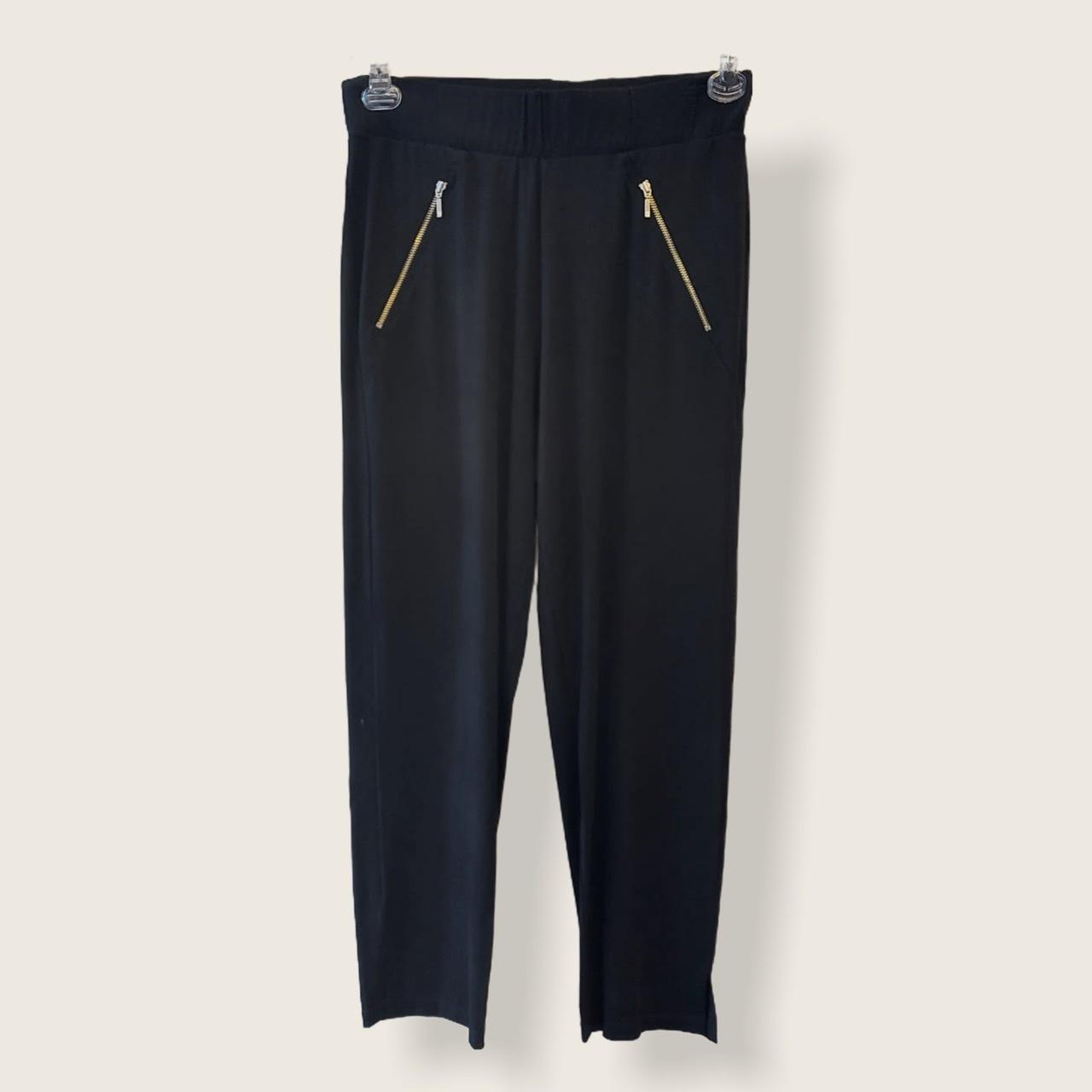 Calça detalhe ziper preta