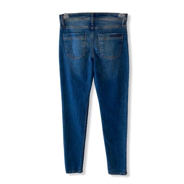 Calça Jeans Skinny blue jeans destroyed