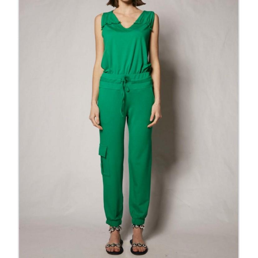 Calça Jogger em malha verde   - Vivian Bógus