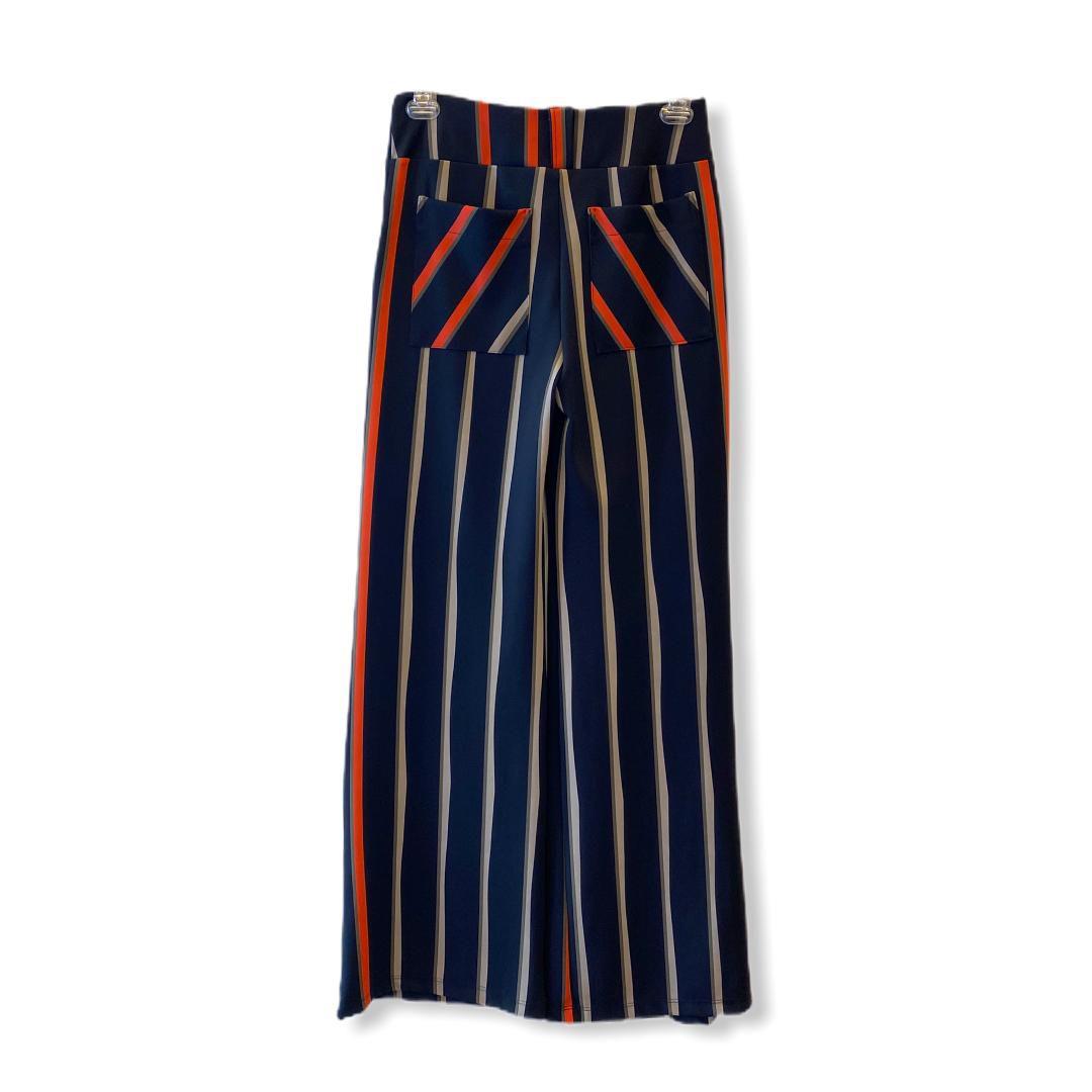 Calça pantalona listrada  - Vivian Bógus