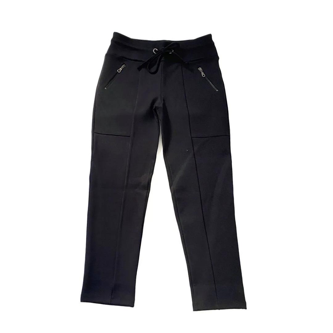 Calça sequinha em Radiosa Plus com cordão preta  - Vivian Bógus