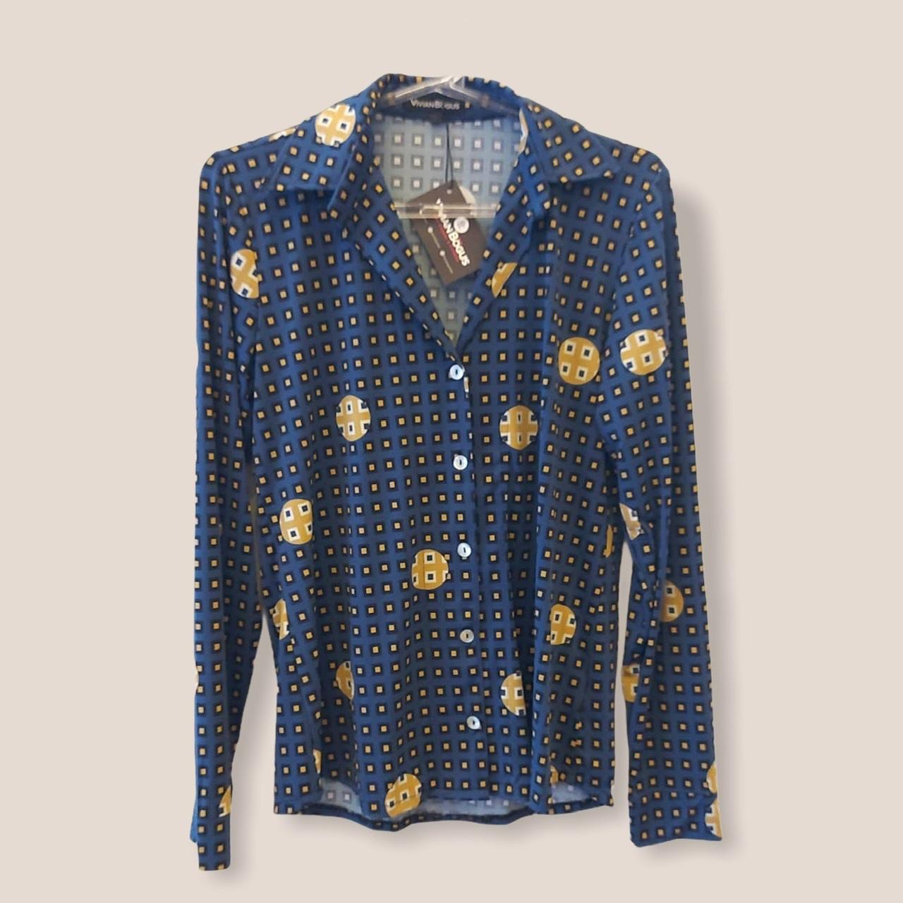 Camisa em malha fria estampada azul