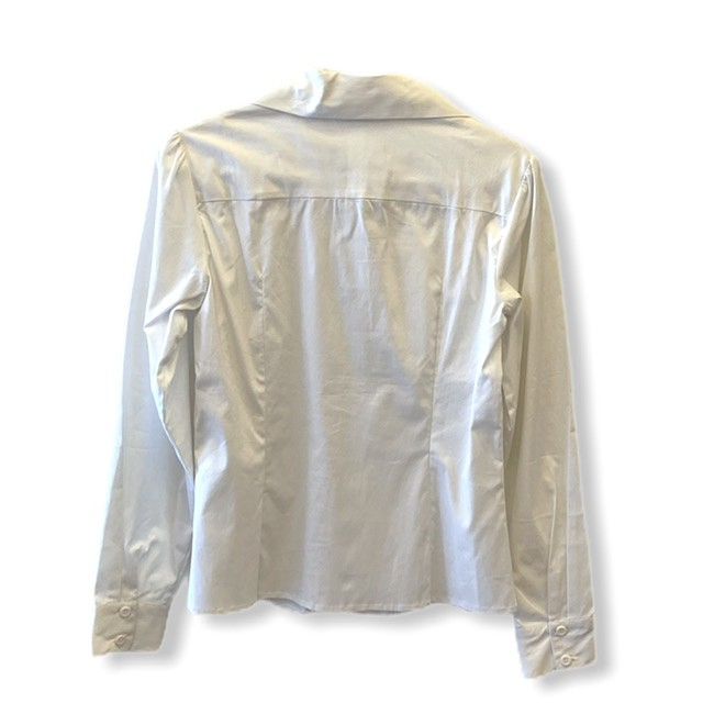Camisa tricoline branca  - Vivian Bógus