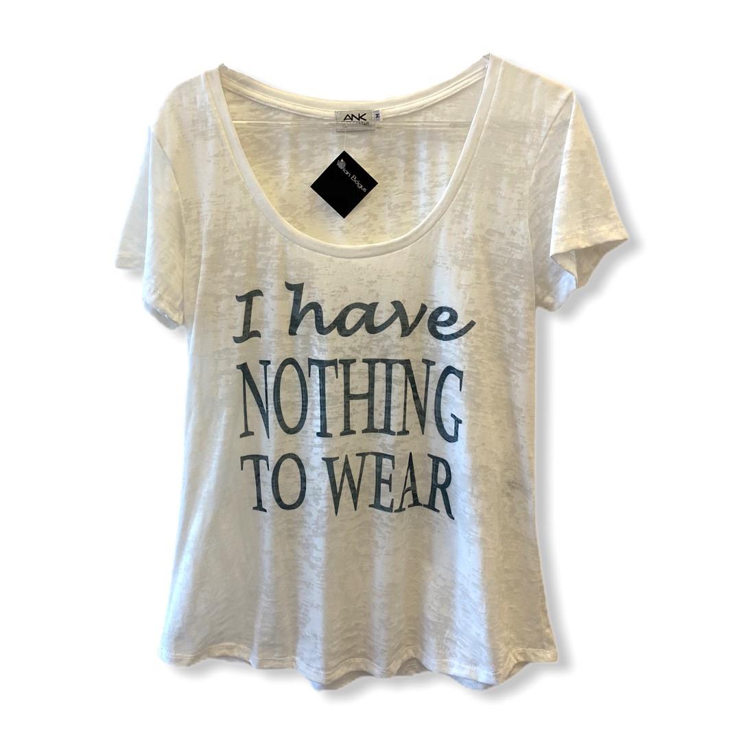 Camiseta devorê I have nothing to wear  - Vivian Bógus