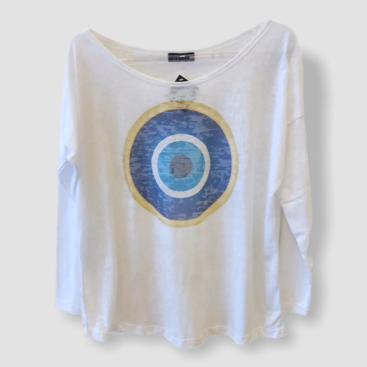 Camiseta devorê manga longa olho grego  - Vivian Bógus