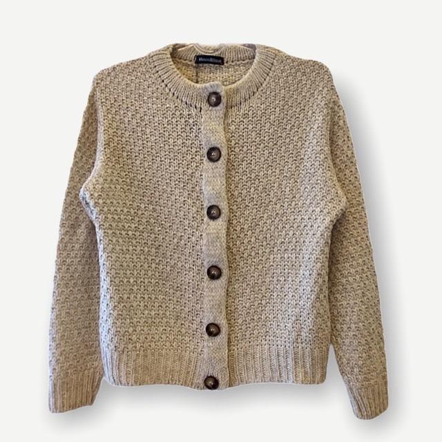 Casaco Fabiana areia tricot