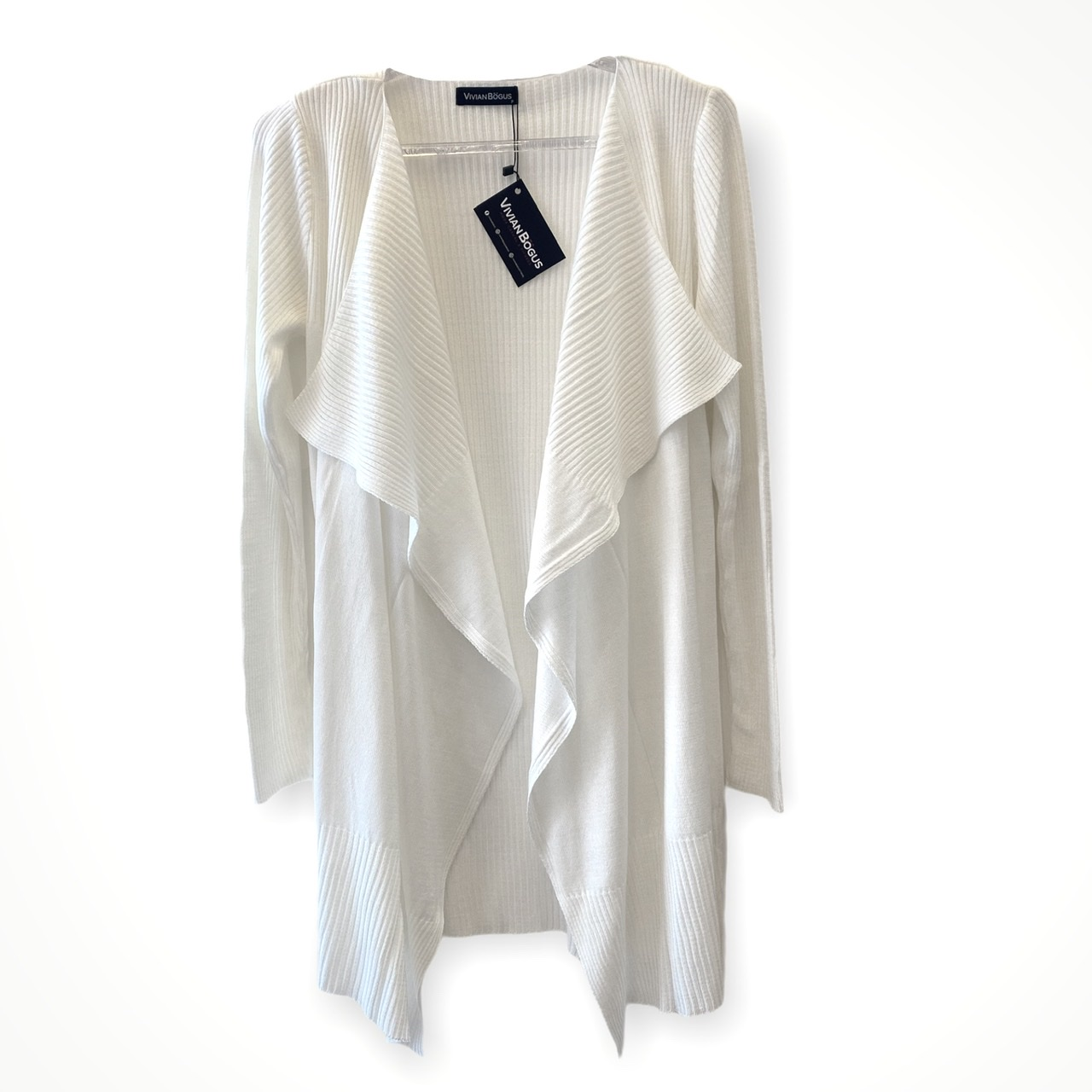 Casaco Marcela off white tricot