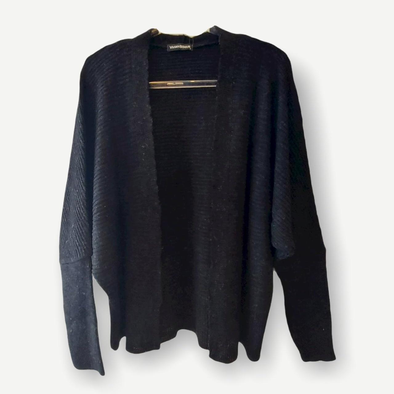 Casaco Vitória preto tricot   - Vivian Bógus