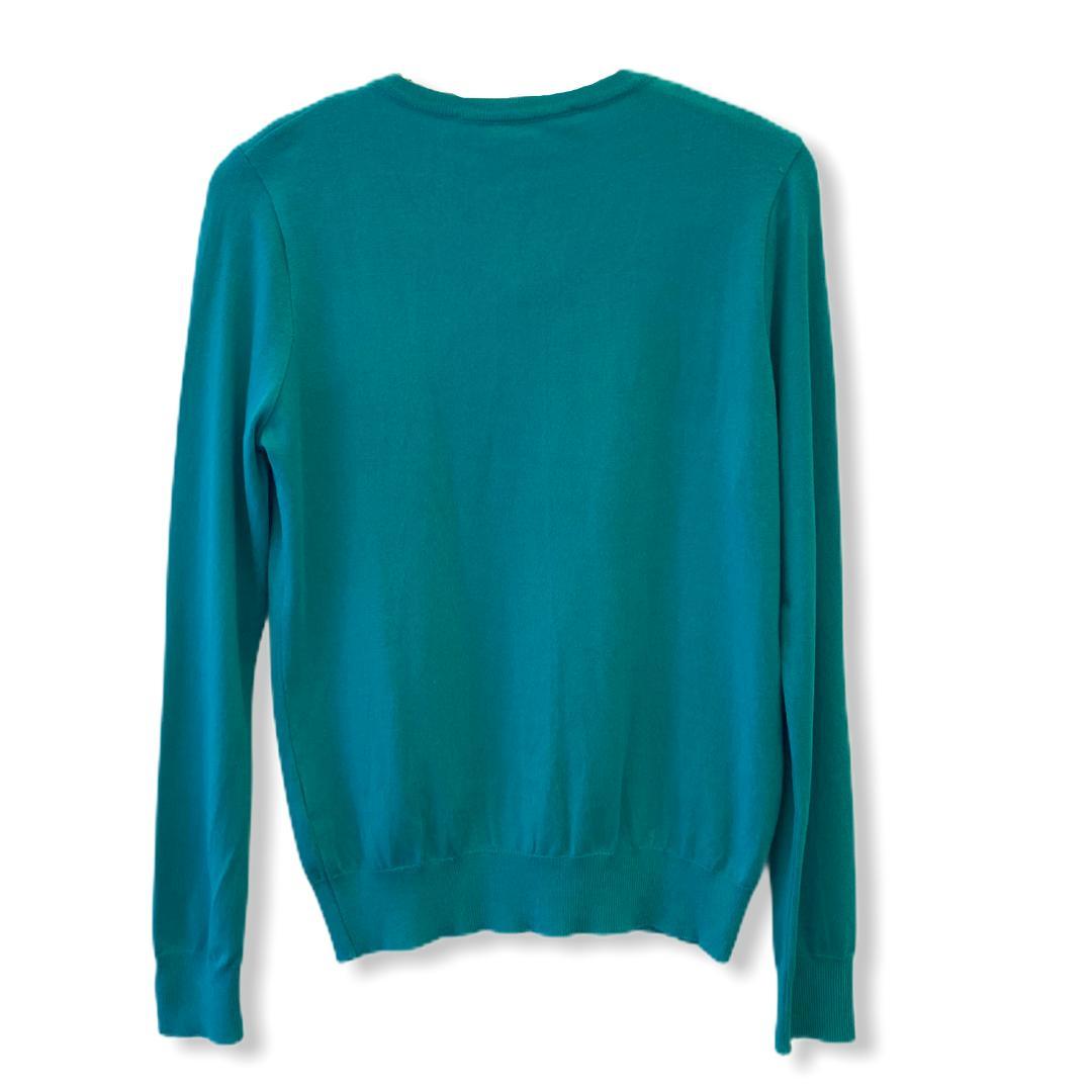 Casaco tricô básiquinho com botões verde  - Vivian Bógus