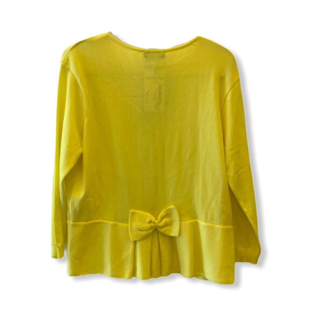 Casaquinho tricô amarelo laço atrás  - Vivian Bógus
