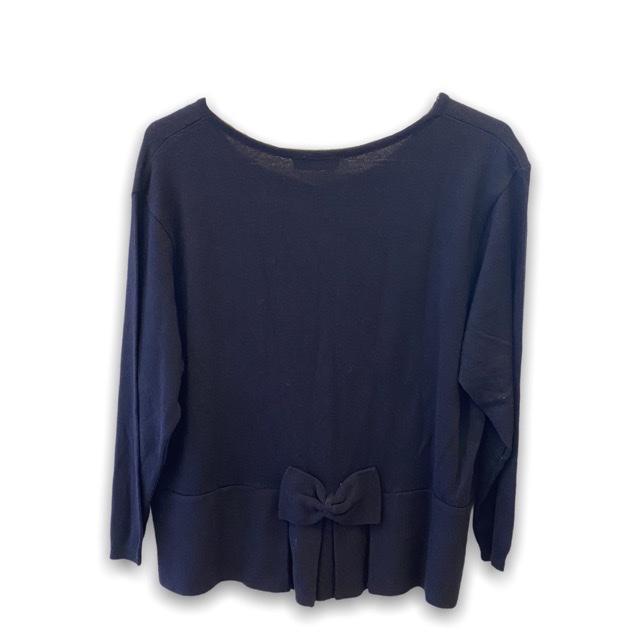 Casaquinho tricô preto laço atrás  - Vivian Bógus