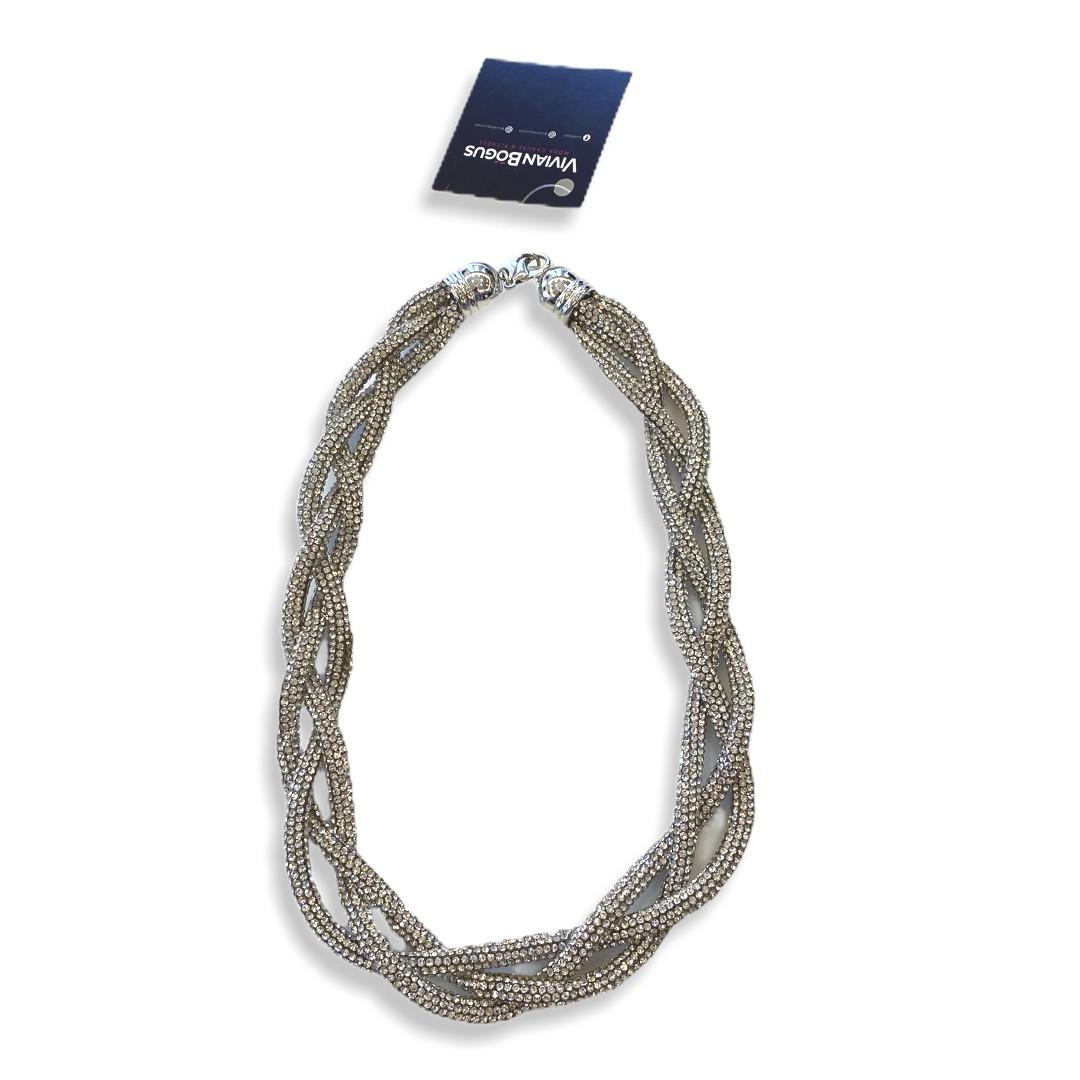 Colar cordão trançado de strass  - Vivian Bógus