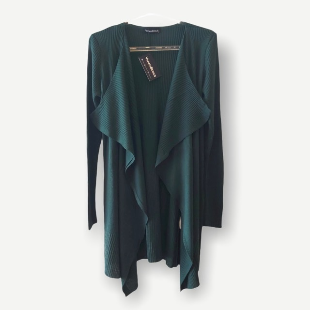 Casaco Marcela verde tricot  - Vivian Bógus