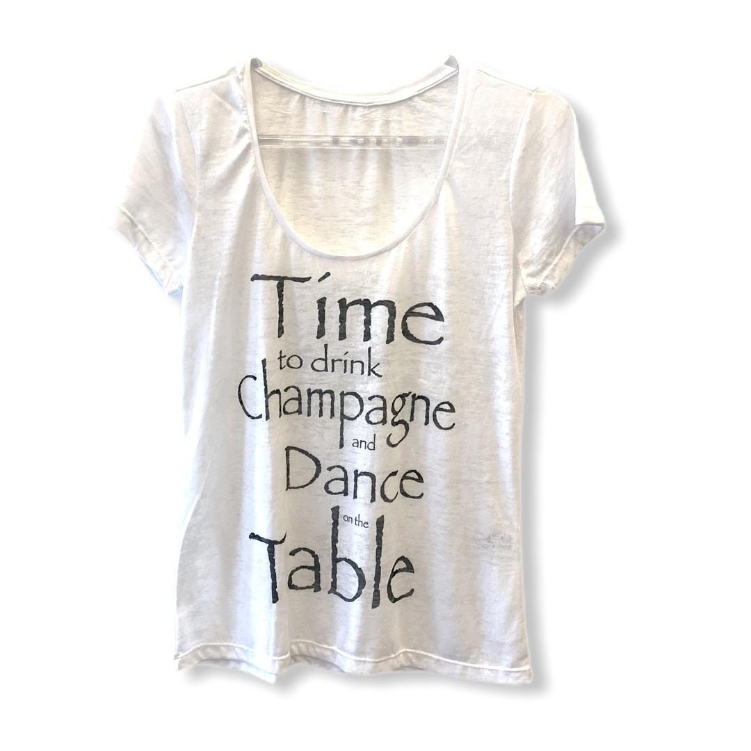 Camiseta devorê Time to drink  - Vivian Bógus