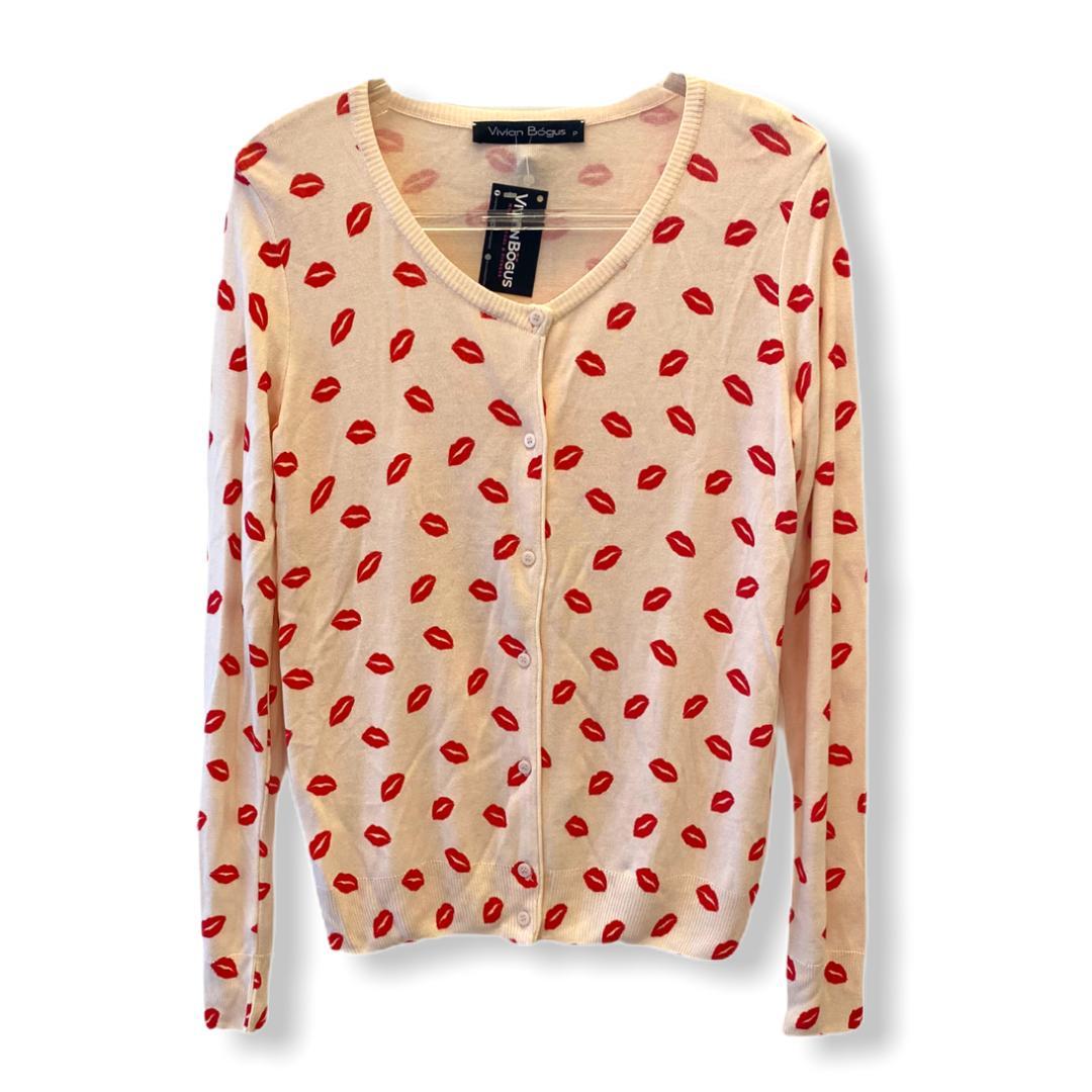 Casaquinho tricô beijo rosinha  - Vivian Bógus