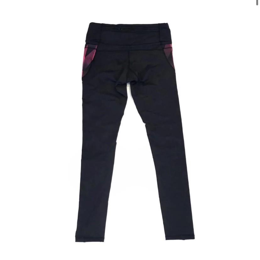 Legging de compressão 1500 bolsos em sportiva preta bolso estampa cherry  - Vivian Bógus