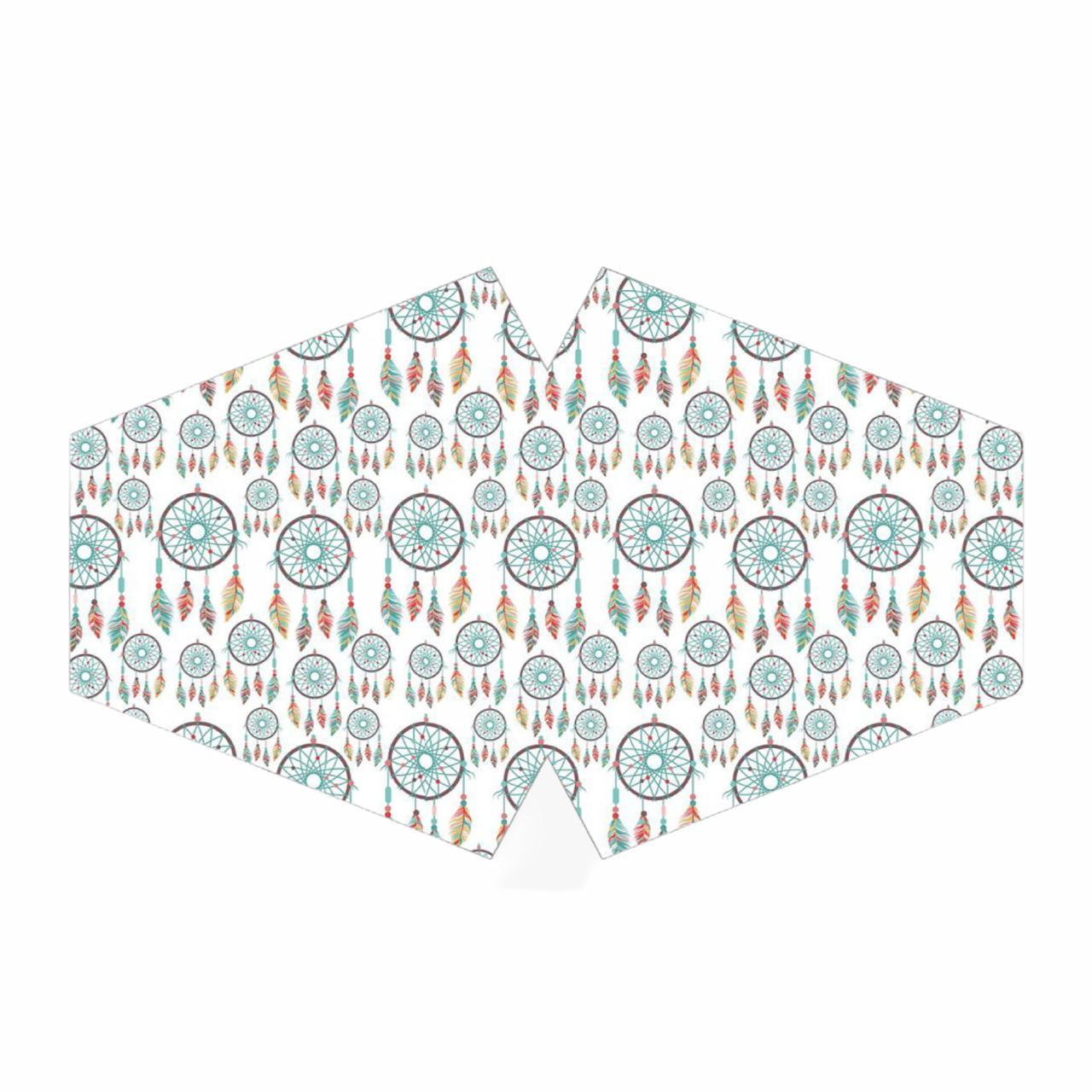 Mascara de proteção estampada lavável dupla camada  - Vivian Bógus