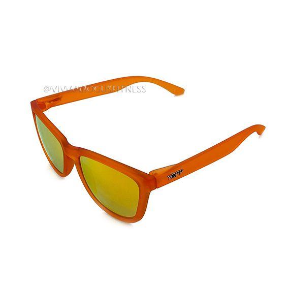 Óculos YOPP laranja com lente espelhada   - Vivian Bógus