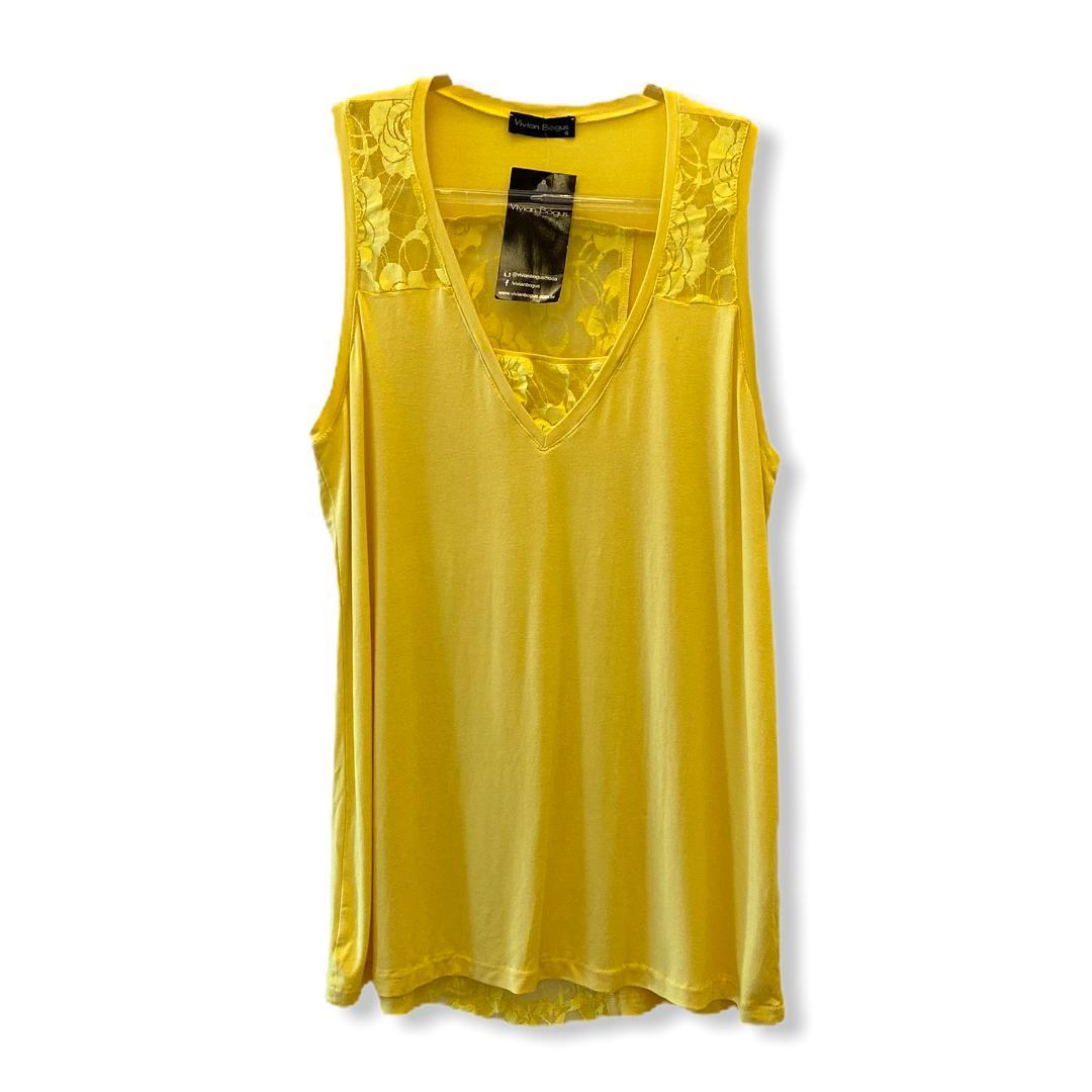 Regata amarela com renda  - Vivian Bógus