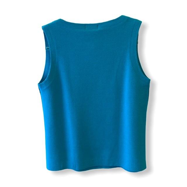 Regata buclê azul turquesa  - Vivian Bógus