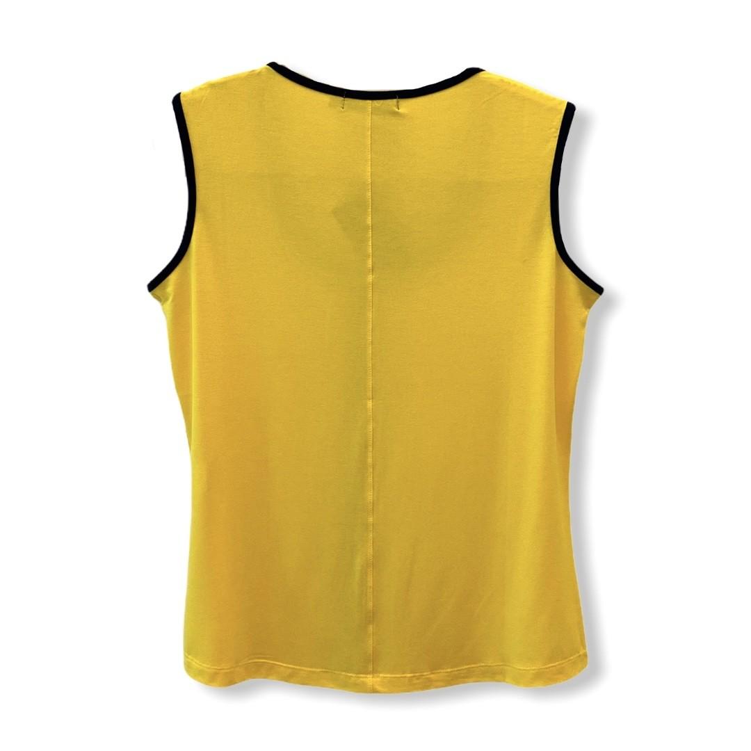 Regata frisos contrastantes amarela e preto  - Vivian Bógus