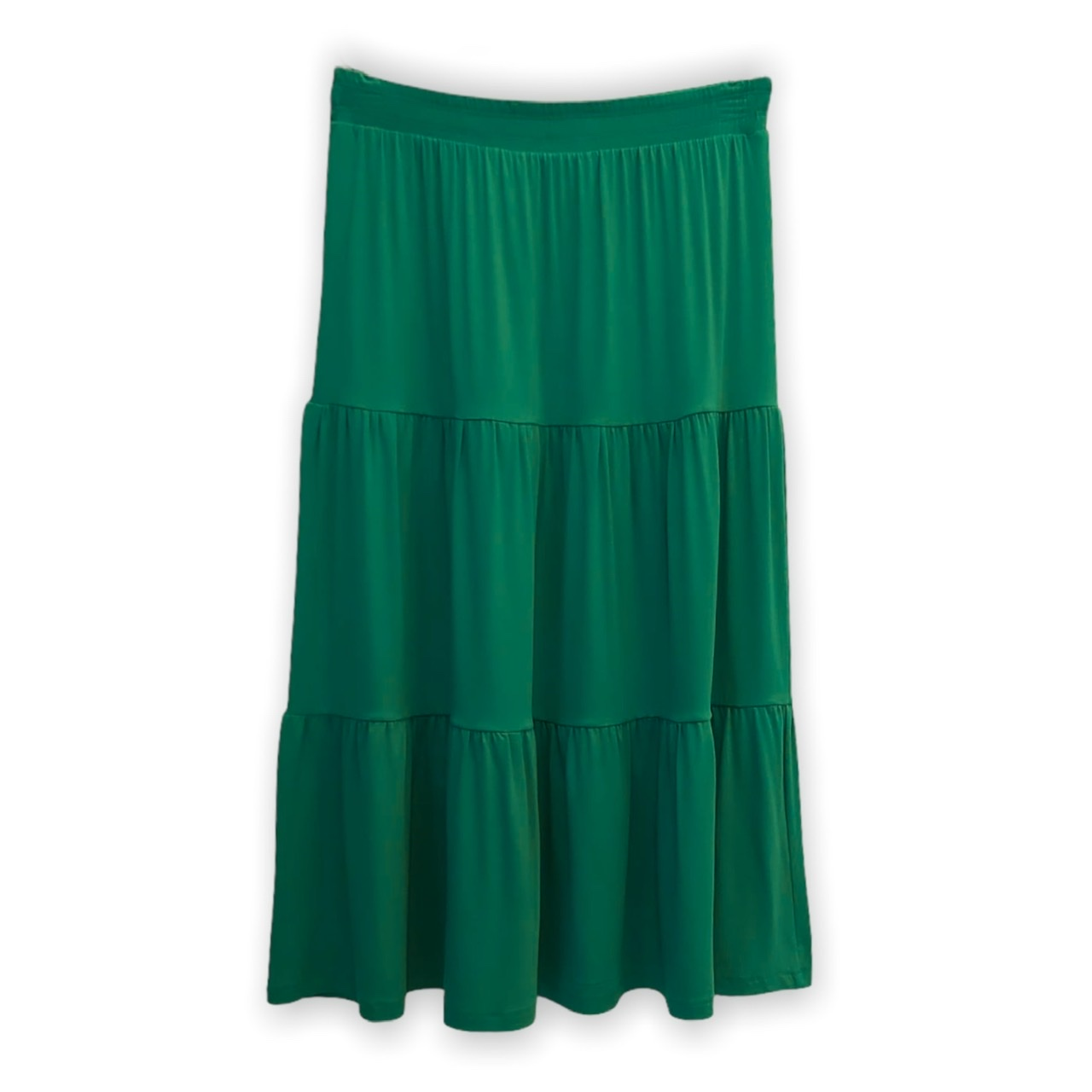 Saia babados verde