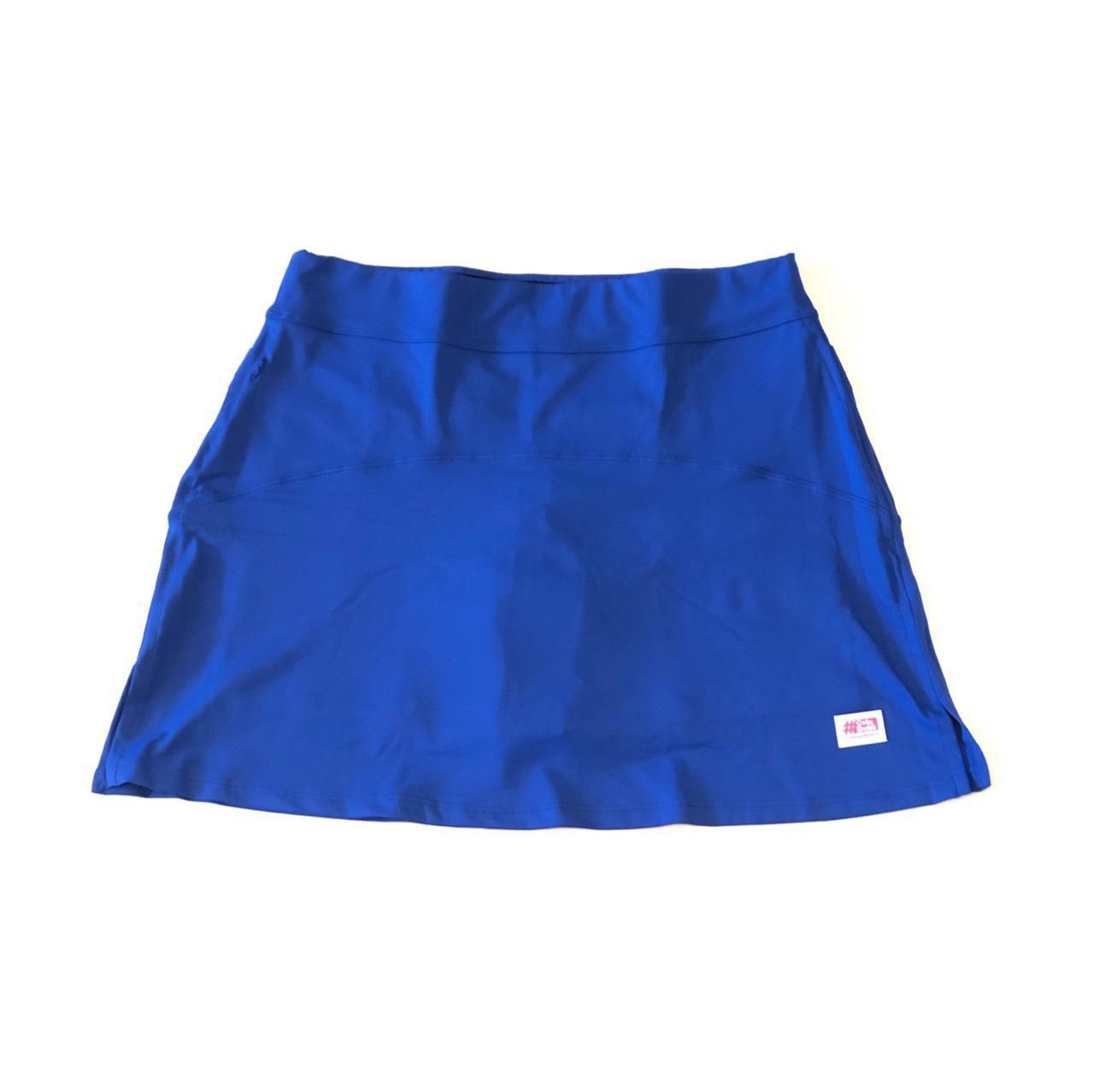 Saia fitness mil bolsos azul royal (5 bolsos)